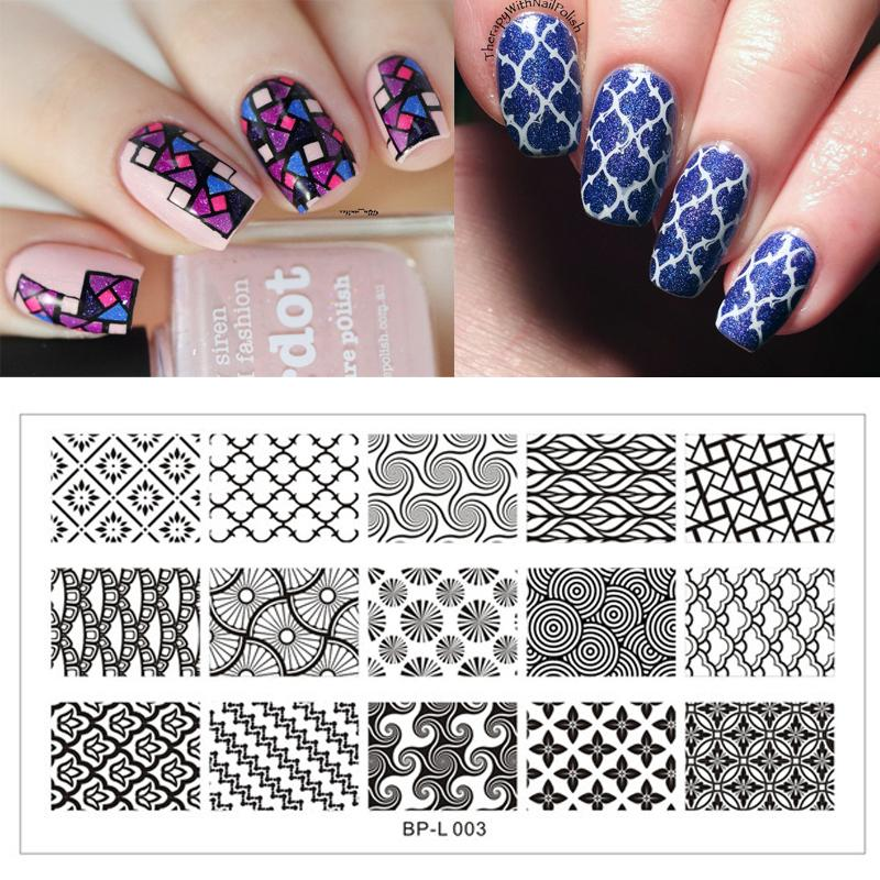Wholesale Large Designs Born Pretty Nail Art Stamp Template Image ...