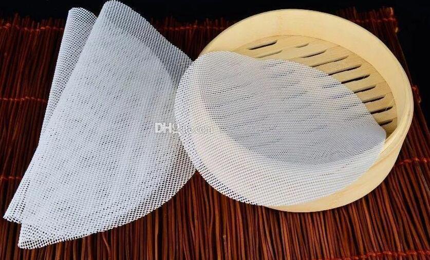 Nouveaux tapis de protection en silicone pour brioches à vapeur tapis de cuisson antiadhésif anti-huile 24cm9.45inch, 20cm7.87inch