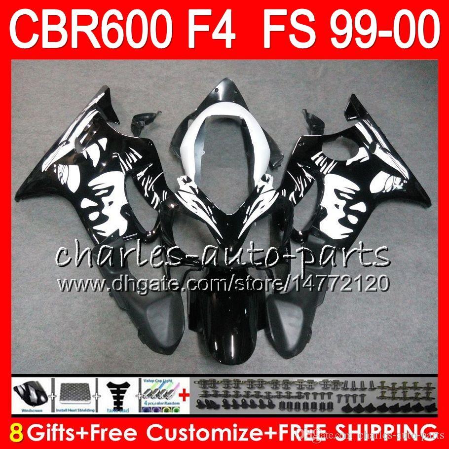8FIFT Bodywork för Honda CBR 600 F4 99-00 CBR600FS FS Graffiti Black 30HM18 CBR600 F4 1999 2000 CBR 600F4 CBR600F4 99 00 Fairing Kit