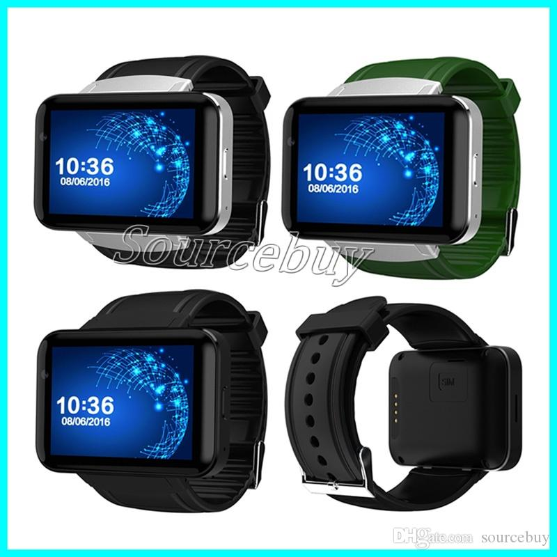 DM98 Bluetooth Smart Watch Android 4.4 3G SmartWatch Teléfono MTK6572 Dual Core 4GB ROM Cámara WCDMA WiFi GPS 2.2