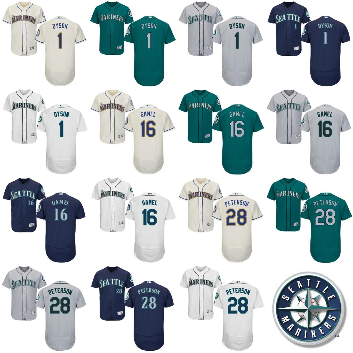 b9189ff40 ... Green with Camo Number Salute To Service Baseball 2017 2017 Mens Womens  Kids Seattle Mariners 1 Jarrod Dyson 16 Ben Gamel 28 D.J. Peterson ...