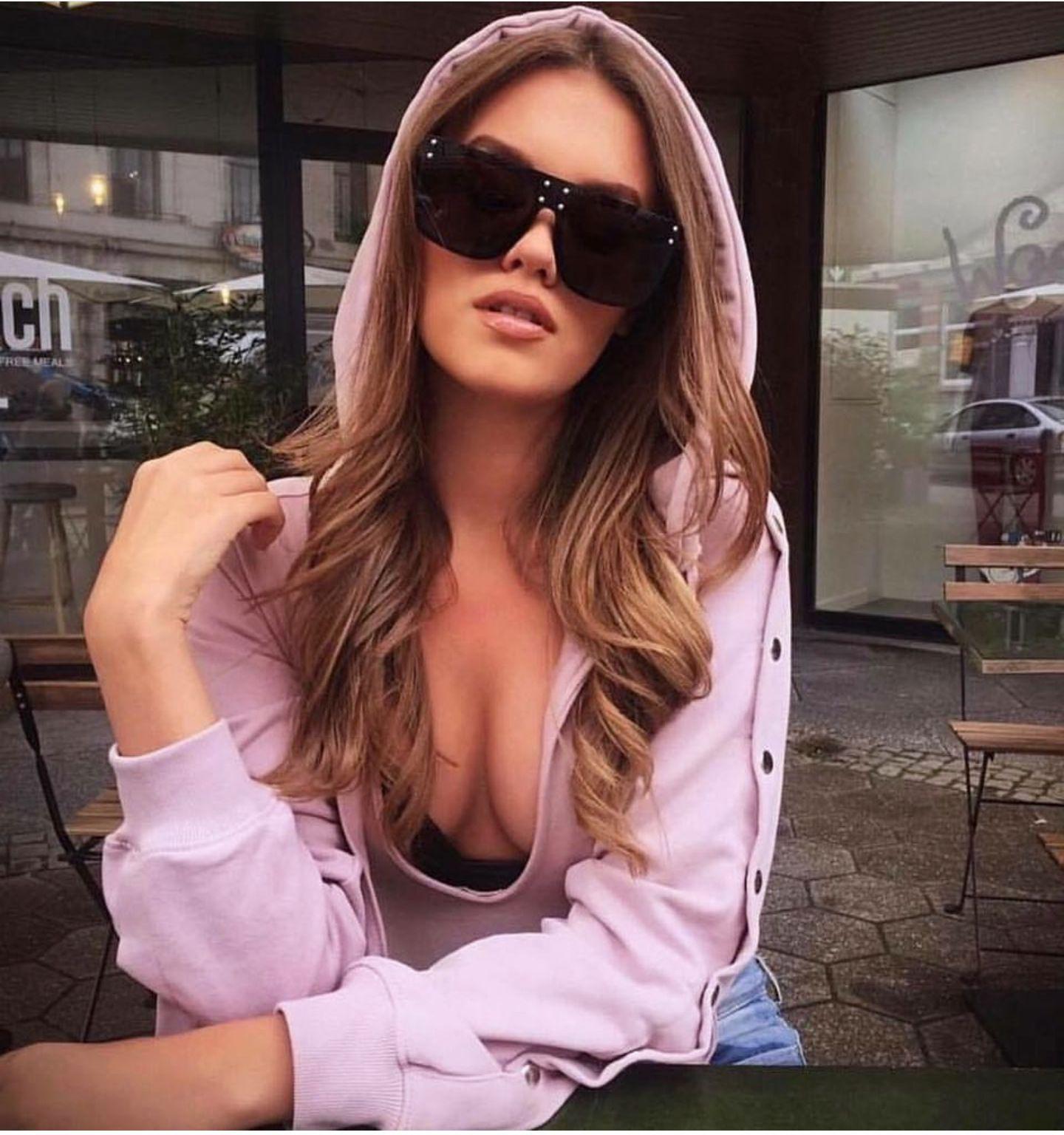Boy kare güneş gözlükleri kadınlar flat top güneş gözlüğü moda Avustralya marka vintage retro tonları Büyük Siyah gözlük bayanlar 2019 yeni