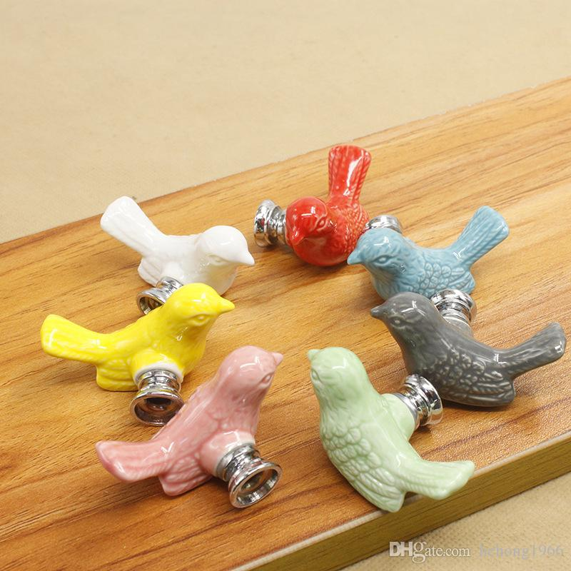 Ceramics Cartoon Handle Creative Fashion Modern Multi Function Cupboard Drawer Wardrobe Knobs Handles Hot Sell 3 85pn C R