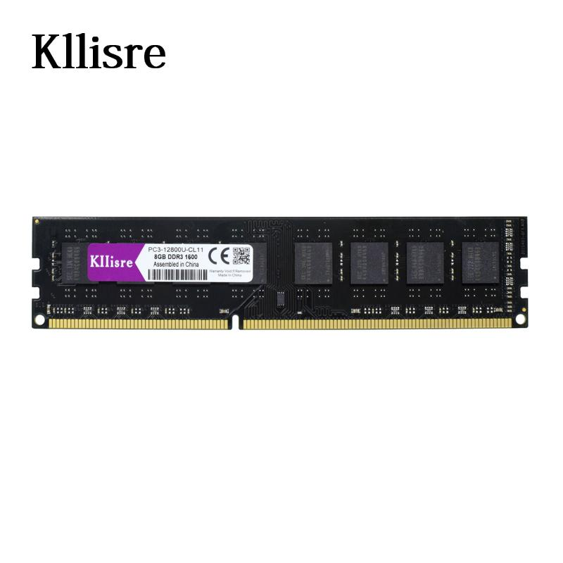 kllisre ddr3 8gb 1600mhz 1333mhz memory ram for intel amd desktop