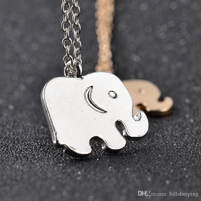 New hot sale Lucky Elephant Pendant Necklaces Bijoux Collares For Women Men Punk Animal Necklace Fashion Jewelry