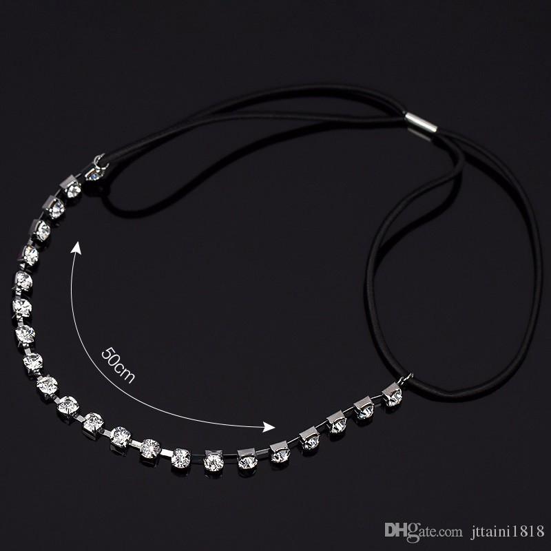 Fashion Luxury Pearl Rhinestone Beads Hairbands Lace Crown Crystal Bridal Headband Hair Piece Accessories Jewelry Tiara Wedding H034