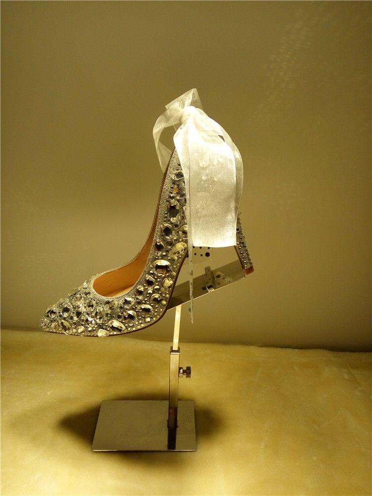 ENVÍO GRATIS artesanía plataforma de punta puntiaguda por encargo perla de diamantes color rojo vestido de novia de la boda vestido de tacón alto mujer señora shoe286