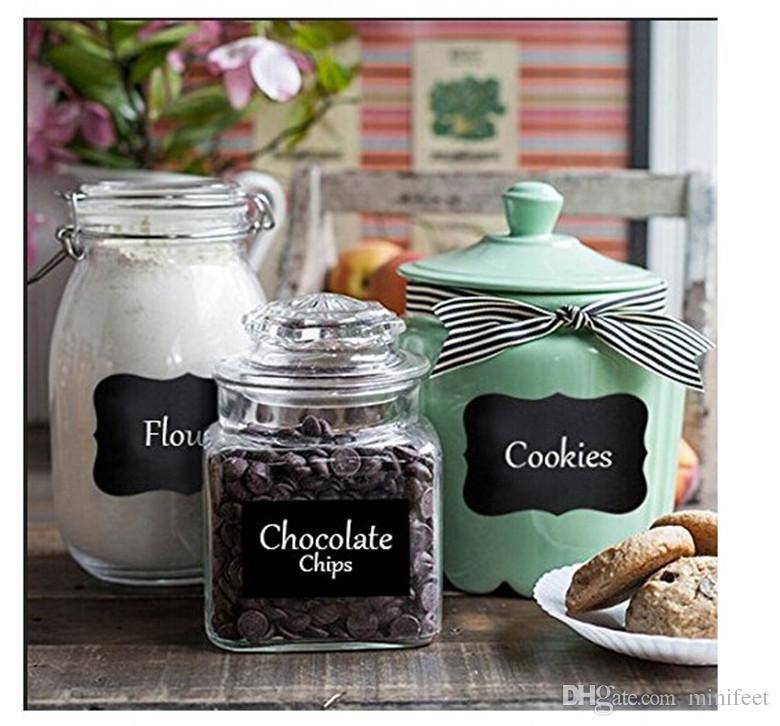 Wholesale Fancy Mason Jar Wedding Chalkboard Labels Wine Glass Drink Cup Label diy Reception Decoration idea