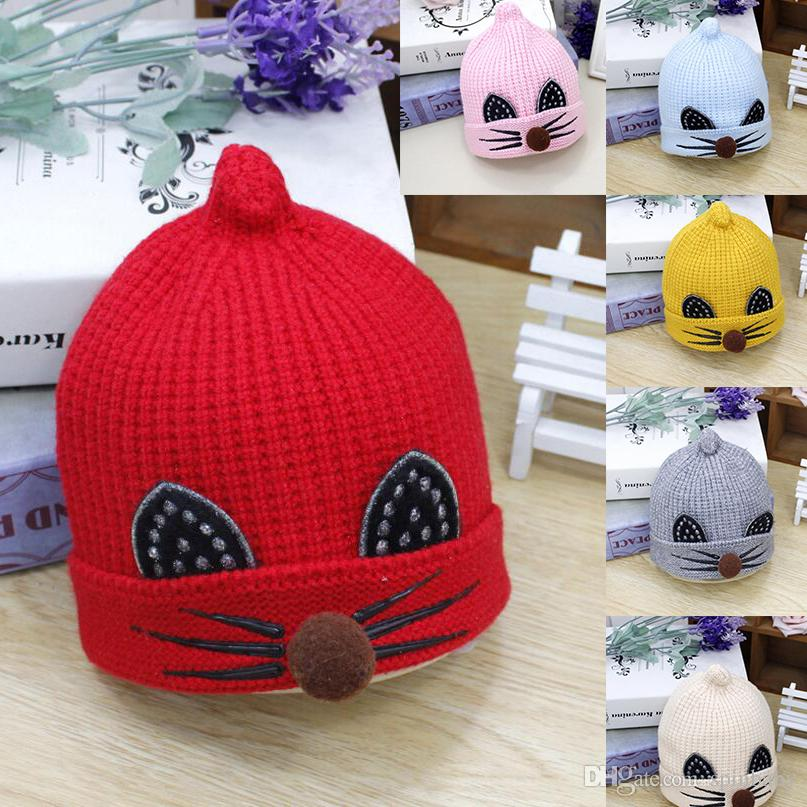 a3f83966506a 2019 2017 Cute Baby Winter Hat Warm Infant Beanie Cap For Children ...