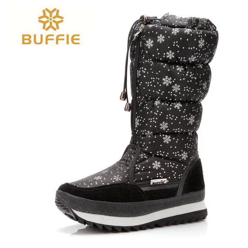 Femmes Haute Hautes Chaussure Gros Hiver Acheter Bottes Hiver Genou qIf7fO