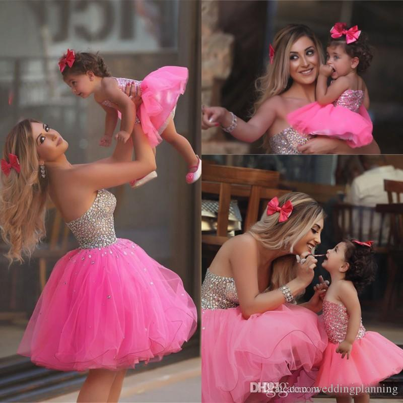 Sparkly Beaded Mother And Daughter 2017 New Prom Dresses