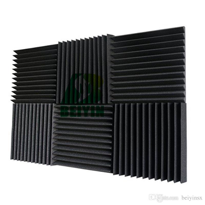 48 STÜCKE MusicSound Wedge Akustikschaum Studio schallabsorption Fliesen Schalldämmung Schalldämmung Platten Feuerfest 12X12X1