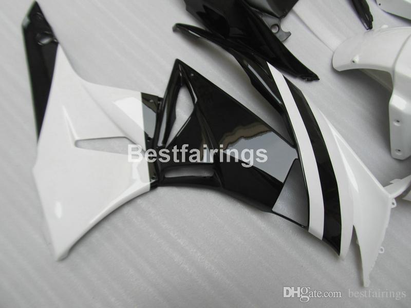 Kit de carenado de piezas de recambio para Kawasaki Ninja ZX6R 2009 2010 blanco negro carenados ZX6R 09 10 GT30