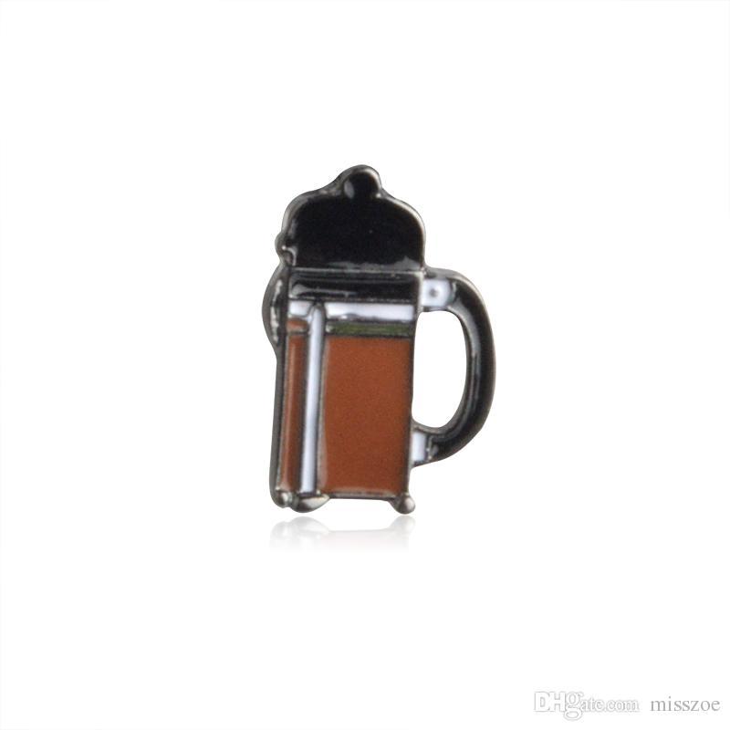 American Coffee Aeropress Chimex Filter Cup Broche Chaqueta Denim Chaqueta Pin Camisa Insignia Joyería de moda Regalo para Amigos Niños