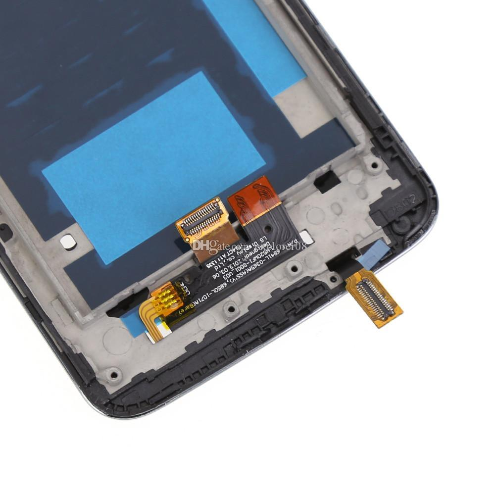 Original lcd display mit rahmen für lg g2 d800 d802 d801 d802ta d803 vs980 ls980 touchscreen digitizer assembly ersatz kostenloser versand