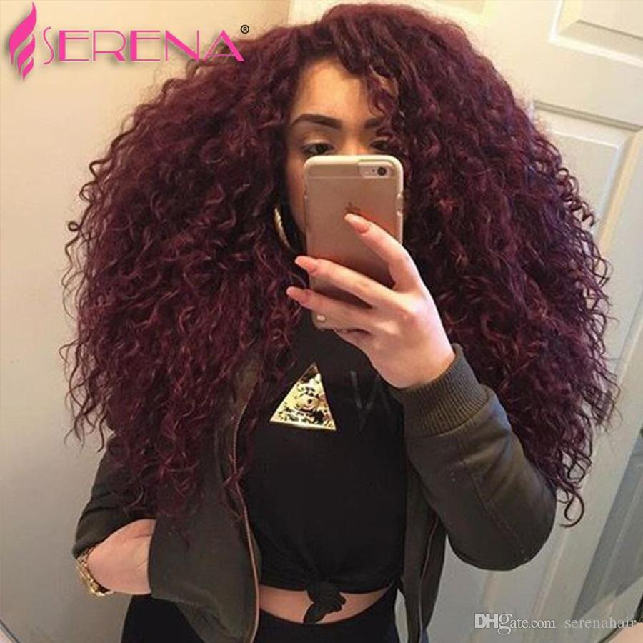 2018 Red Hair Extensions Wet And Wavy Virgin Hairs