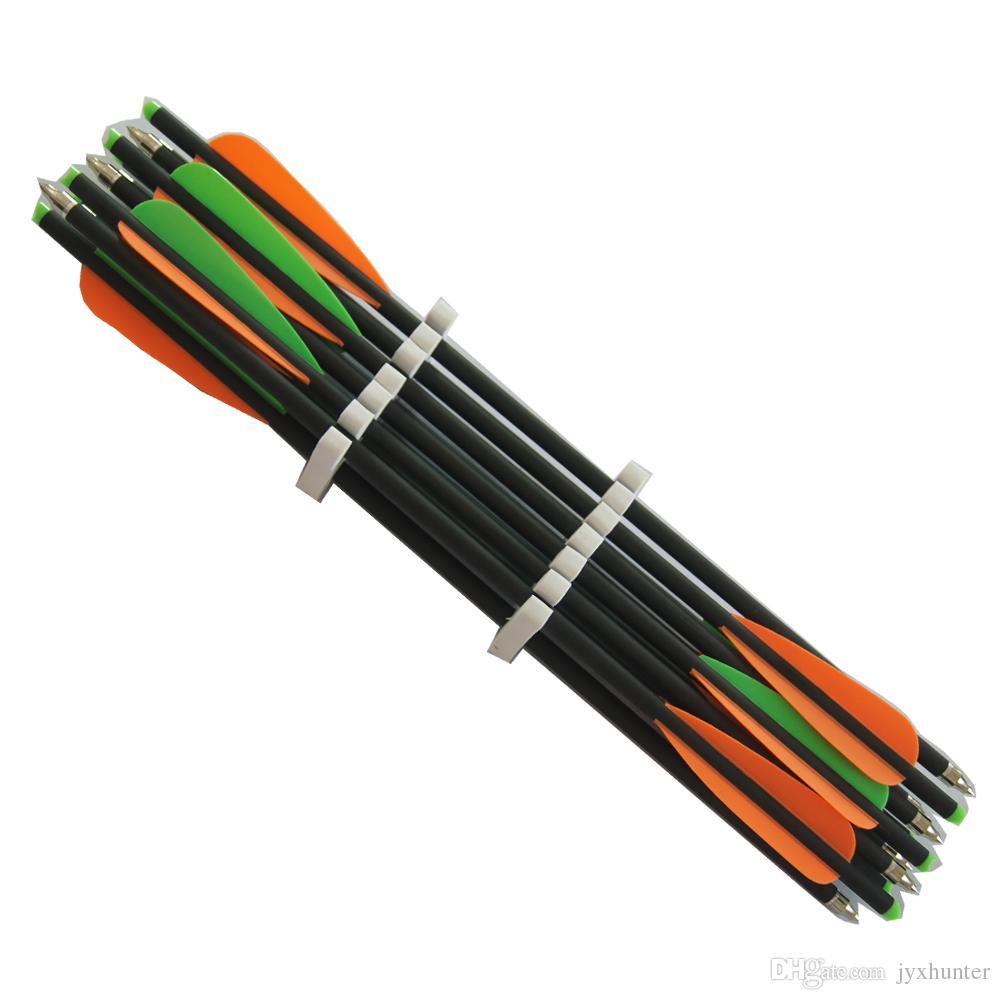 12 peças de 17 polegada tiro com arco tiro caça besta de carbono misto setas 8.8mm mista de fibra de carbono besta parafusos