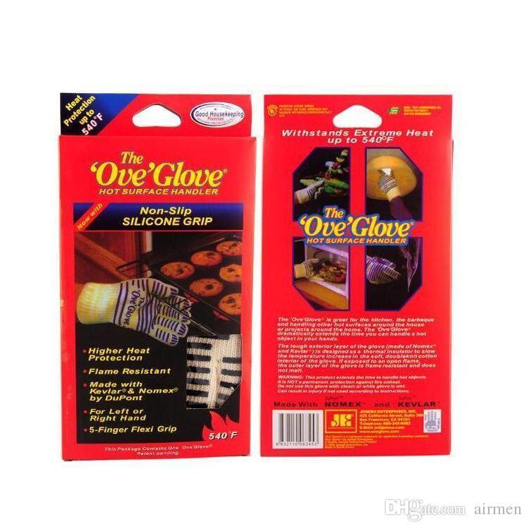 새로운 Ove 장갑 전자 렌지 장갑 내열성 요리 내열성 오븐 Mitt 장갑 뜨거운 표면 처리기
