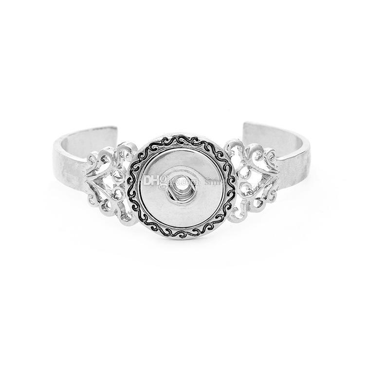 Noosa Chunks Snap Button Charm Open Bracelet Bangles For Women 18mm Rivca Ginger Snaps Button Jewelry SZ0338