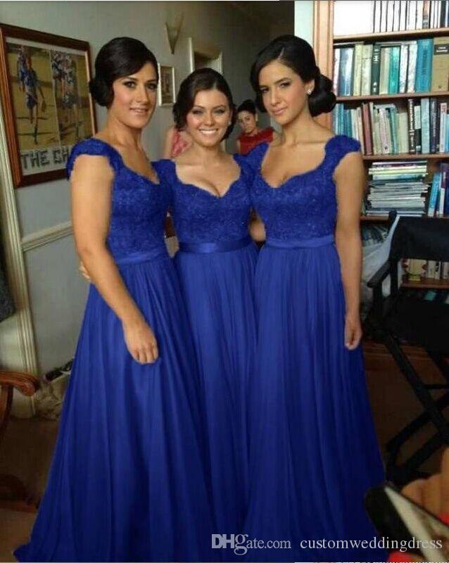 Vestito da cerimonia nuziale da cerimonia nuziale BD002 Vestito da cerimonia nuziale da donna corto in chiffon blu royal sweethid da donna