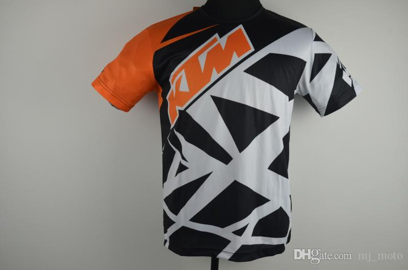 2017 heißer verkauf Männer Casual KTM Motorrad T-shirt Jersey Kurzarm Airline Jersey Motocross DH Downhill MX MTB Atmungsaktive Off-Road