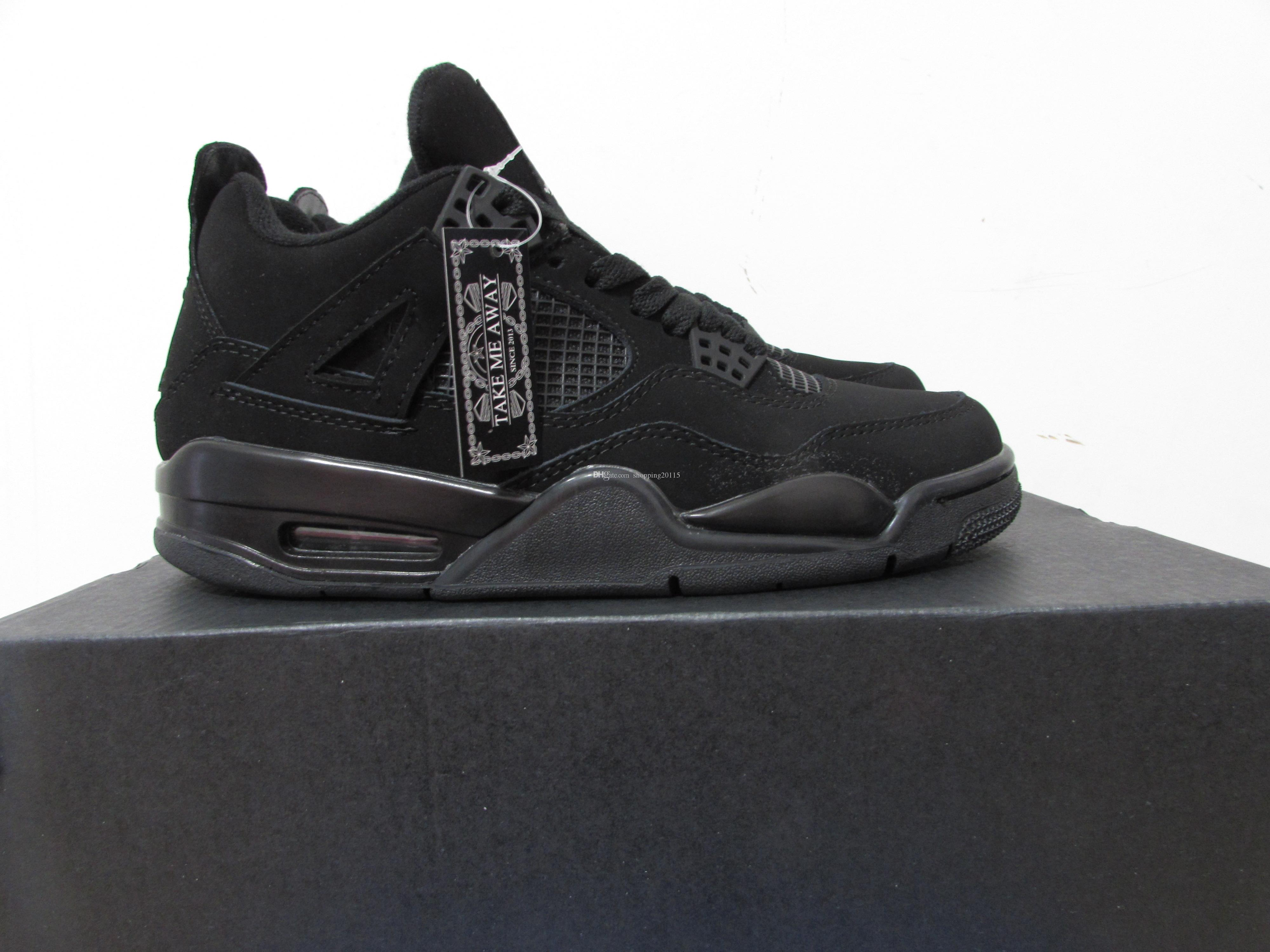 623d08a16a5 ... 2af98479991bc3 Hot Sale 4 IV Black Cat Mens Basketball Shoes High  Quality 4s Sports .