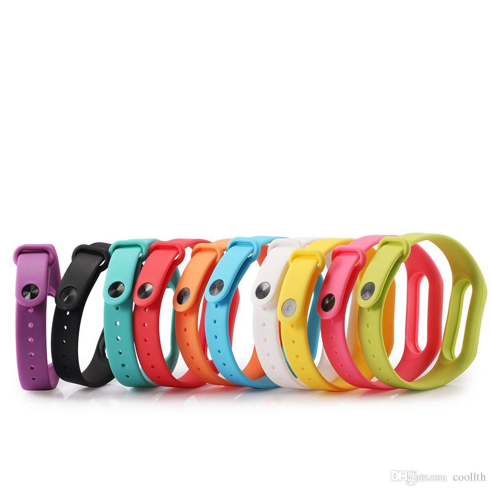 컬러 실리콘 착용 Miband이 교체 시계 스트랩 샤오 미 미 밴드 스마트 밴드 2 개 손목 밴드 스마트 팔찌 스트랩 벨트 액세서리