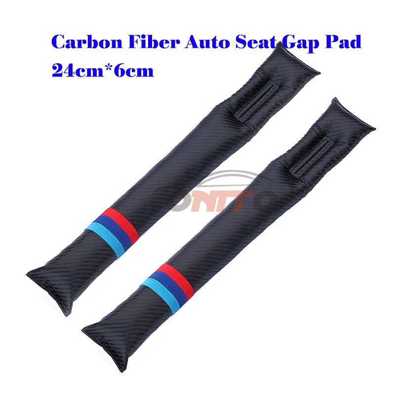 Hot seling Carbon Fiber car Seat Gaps Plug Crevice Inserts Protective Padding for M LOVE mini WING logo auto seat padding