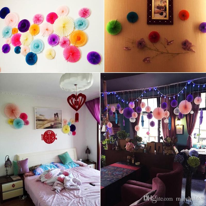 casamento supplie layout guirlanda de papel flor bola de casamento pano de fundo festa de aniversário decoração flor guirlanda de papel fãs 15 cm 20 cm 30 cm