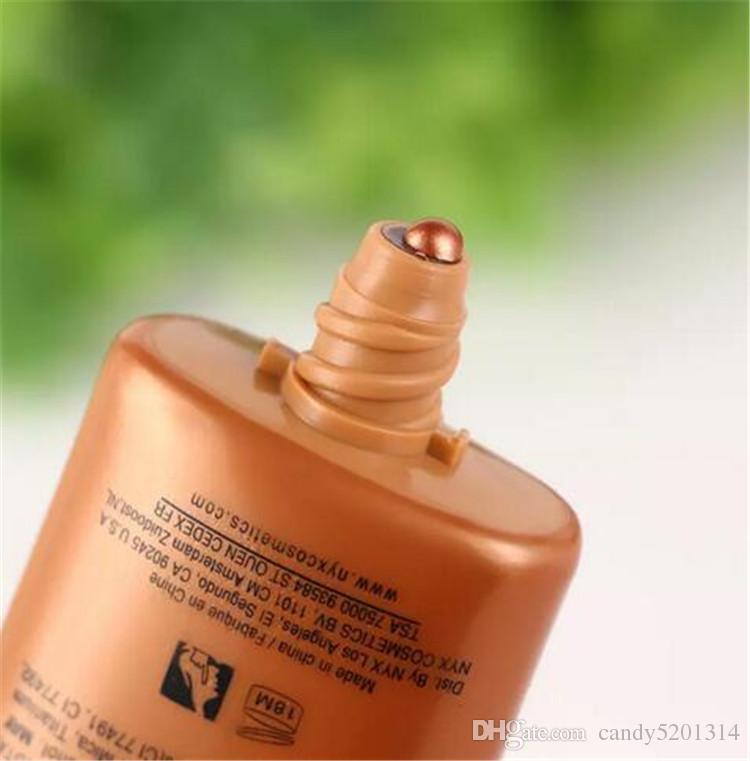 NYX 브랜드 액체 재단 얼굴 컨실러 메이크업은 글로우 액체 조명기 BB 크림으로 태어났습니다. 파우더 화장품 스킨 케어 18ml A08
