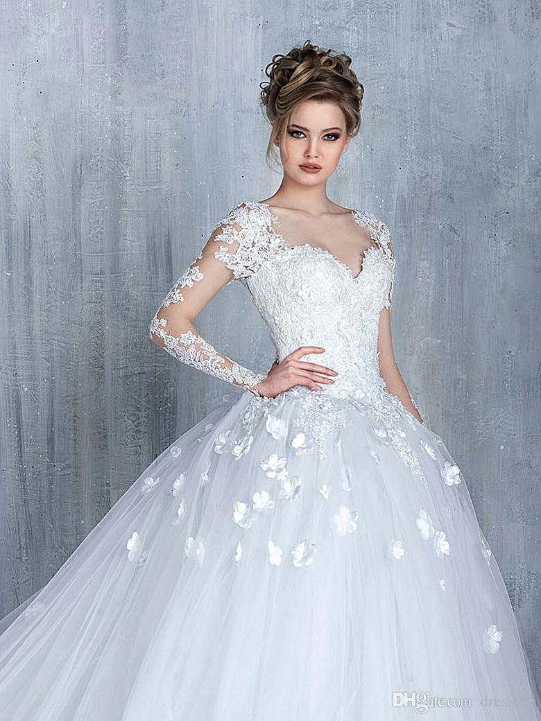 Elegant white wedding dresses with lace cap sleeve empire waist elegant white wedding dresses with lace cap sleeve empire waist wedding gowns tulle chapel train bridal dresses custom made dresses long empire dresses from junglespirit Image collections