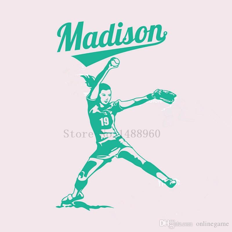 Wall Stickers Home decor DIY poster Decal mural Vinyl Wall Decal Decoration Softball Player FastPitch Pitcher 53*83 cm