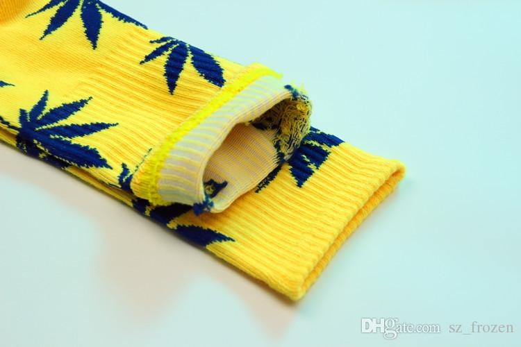 christmas plantlife socks for men women high quality cotton socks skateboard hiphop maple leaf sport socks wholesale Free DHL Fedex