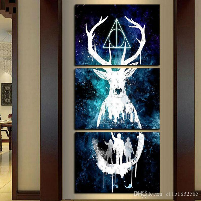 3 Panel Canvas Stampato Harry Potter Painting For Living Room Immagine Wall Art HD Print Decor Modern Artworks Poster di film