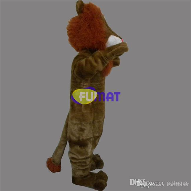 FUMAT Lion Mascot Costume Animal Lion Adult Size Fancy Dress Halloween Christmas Stage Performance Suit Pictures Customization