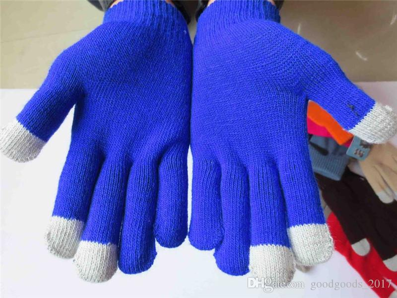 Touch Knitting Warm Gloves Touch Screen Magic Thicker Acrylic Glove Cellulare Touch screen universale Guanto M599