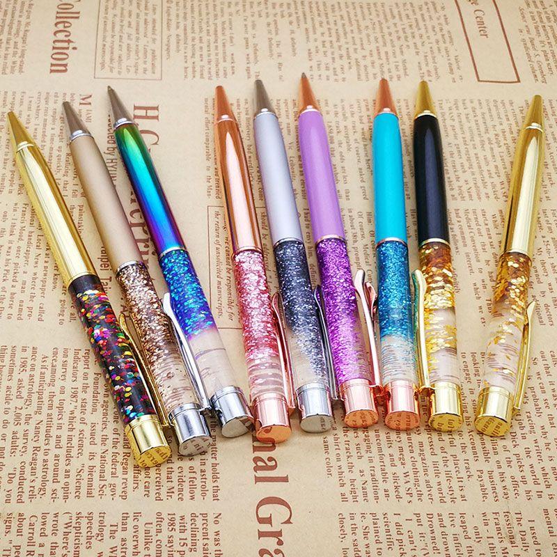 Bling Glitter Liquid Sandglass Metal Aluminum Rod Pen Advertisement Pen  Office Ball Point Pen Best Gift 14.3*1cm Promotional Ink Pens Staedtler  Ballpoint ...