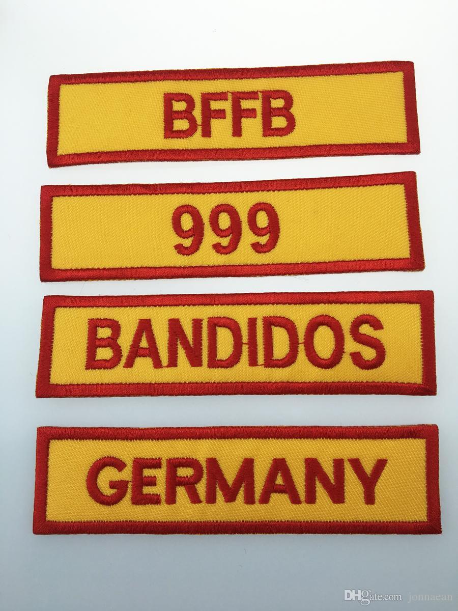 حار بيع مختلط 14 قطع مجموعة كاملة ل bandidos mc مطرز التصحيح الحديد على سترة جلدية سترة رايدر فاسق كامل الظهر حجم التصحيح