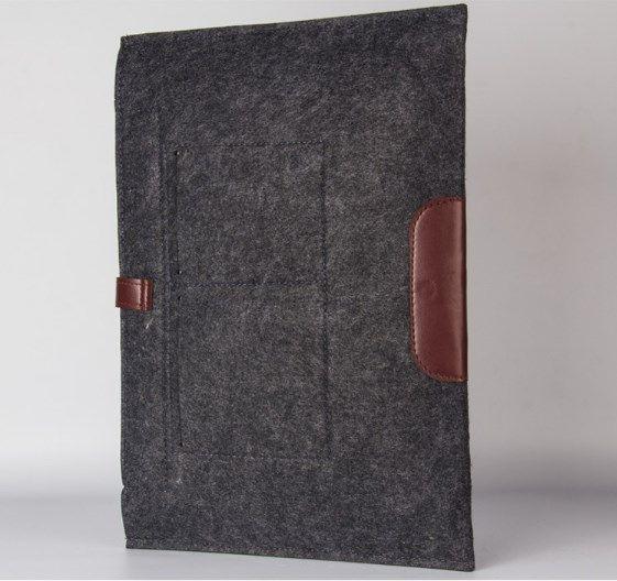 leather Felt Shockproof notebook Liner bag for Macbook ipad air pro 11 13 15 17 inch laptop bag protective sleeve tablet cases GSZ220