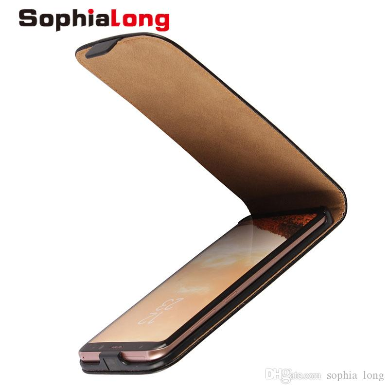 big sale e42fd b0e48 For Samsung Galaxy S8 Plus Case Genuine Leather Cases Up and Down Flip  Cover for Samsung S8 G9500 G9550 Shell