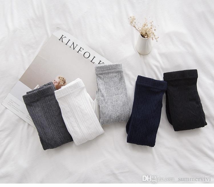 Kids pantyhose baby girls grain stripe leggings kids cotton soft tights 2017 spring new girls princess pants children cotton bottoms A0580