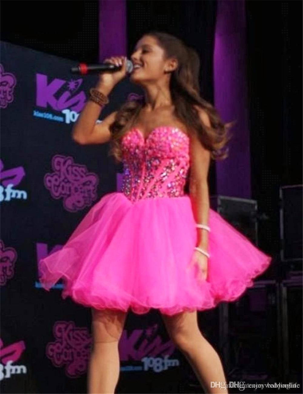 Hot Pink Mini Short Sweetheart Abiti Homecoming Perline Strass Backless Vita basca Dolce 16 Breve Prom Abiti da cocktail BA6693