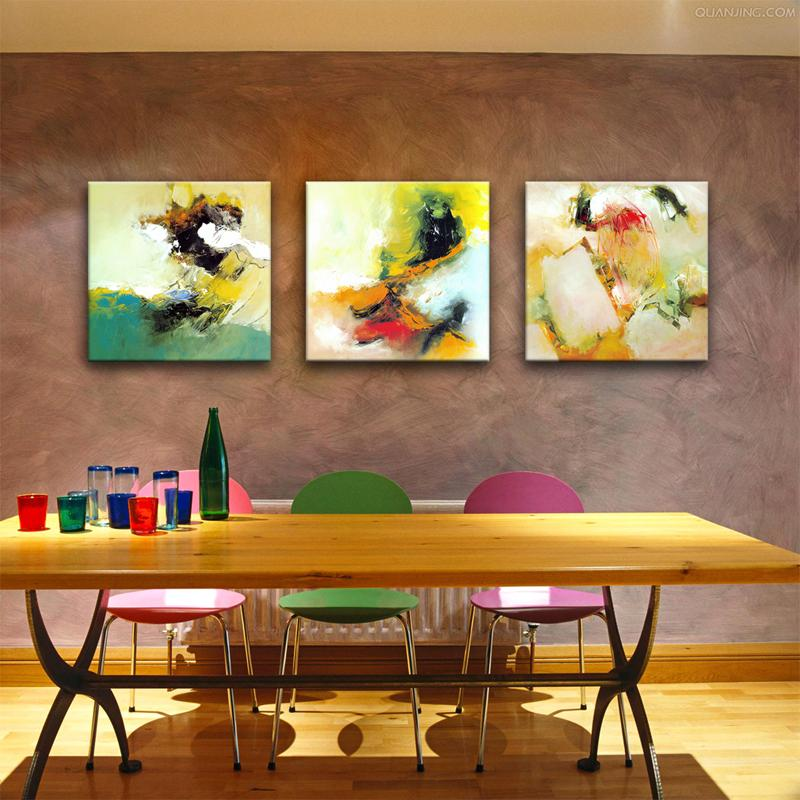 261c1cc518f2a 3 Pieces Wall Art Painting Abstract Watercolor Canvas Paintings with Wooden  Framed For Home Decor Ready to Hang Gifts Print Canvas