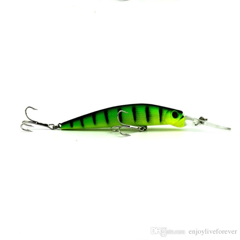 Big Minnow Fishing Lures 14.7g Bass CrankBait Hooks 14.5cm Artificial Plastic Fishing Tackle with Long tongue