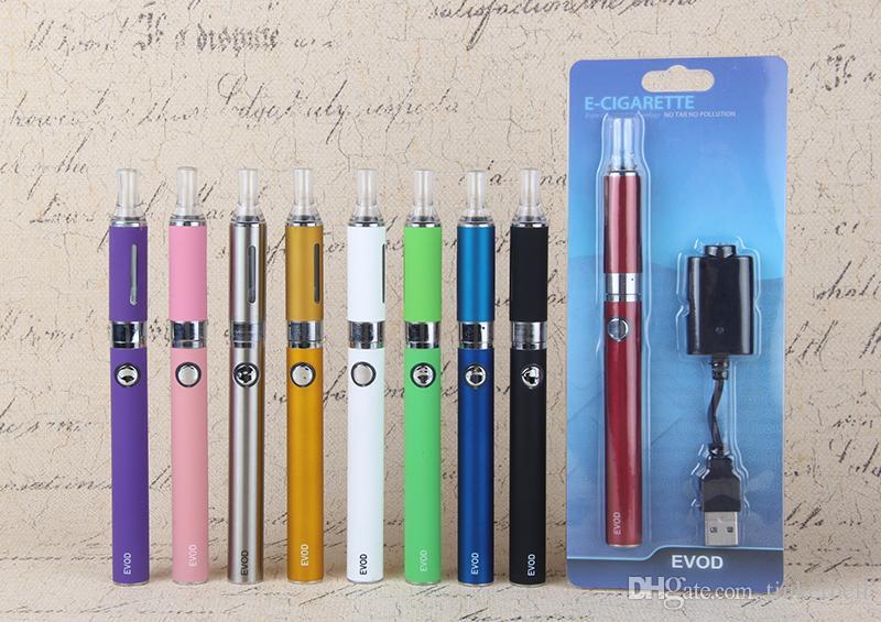 Wysokiej jakości Evod MT3 Blister Zestaw Zestaw Starter Clearomizer Rechargable Evod Bateria 650mAh 900mAh 1100mAh E Zestawy papierosów Vape Pen