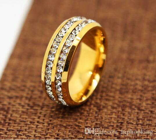 2018 Men Rings Wedding Ring Lover 316l Stainless Steel 24k Golden