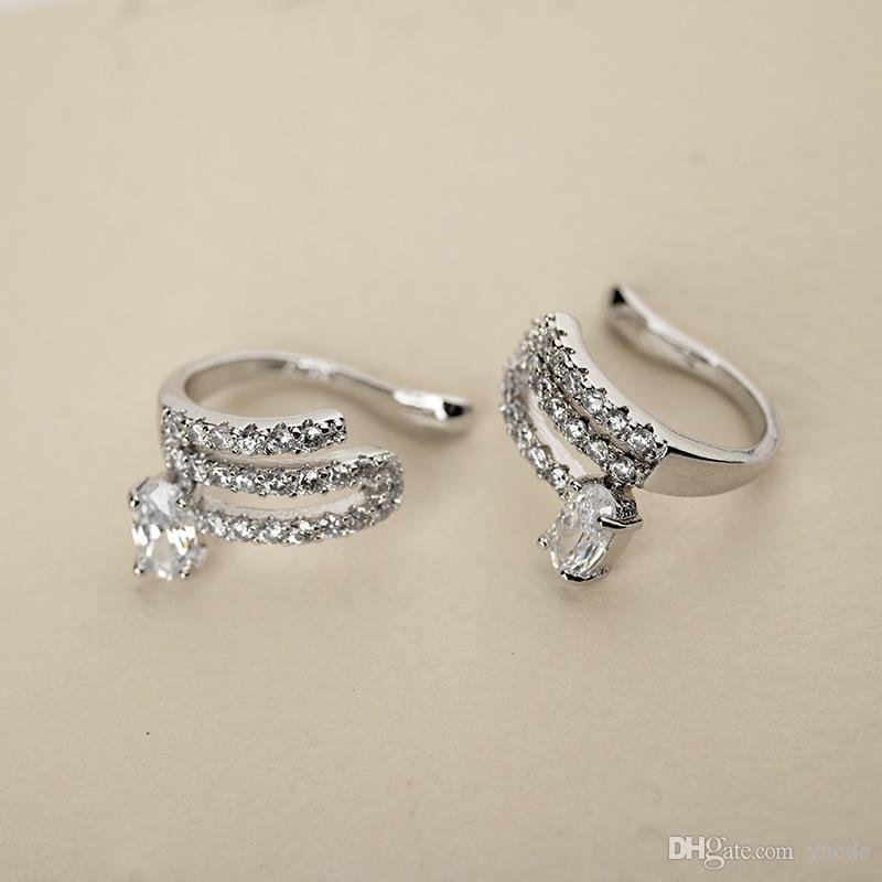 SALE Fashion jewelry new 925 silver needle Triangle Earrings Fit Pandora female crystal from Swarovski simple