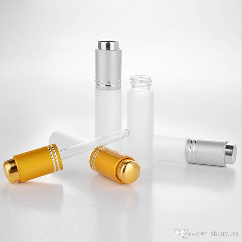 20 ML Mini Taşınabilir Buzlu Cam Doldurulabilir Parfüm Şişesi Damlalık Ile ücretsiz kargo F2017348 Boş Kozmetik Parfüm Flakon
