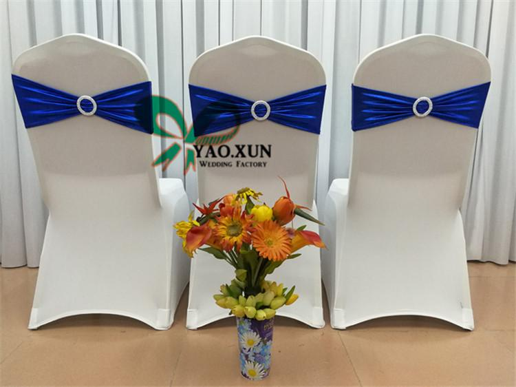 Good Looking Bronzing Coated Strech Chair Sash \ Lycra Spandex Chair Band For Wedding Chair Cover