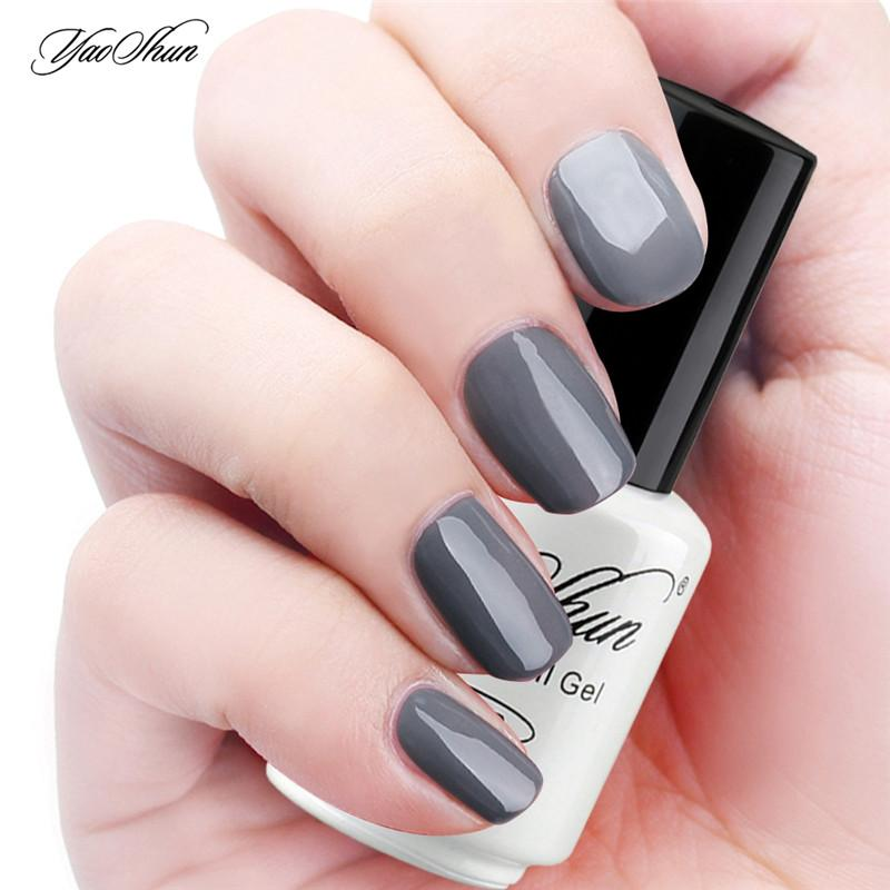 Wholesale Yaoshun Classic Gray Gel Nail Polish 8ml Uv Soak Off Diy